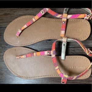 Limited Edition Pink Stripe Sandals